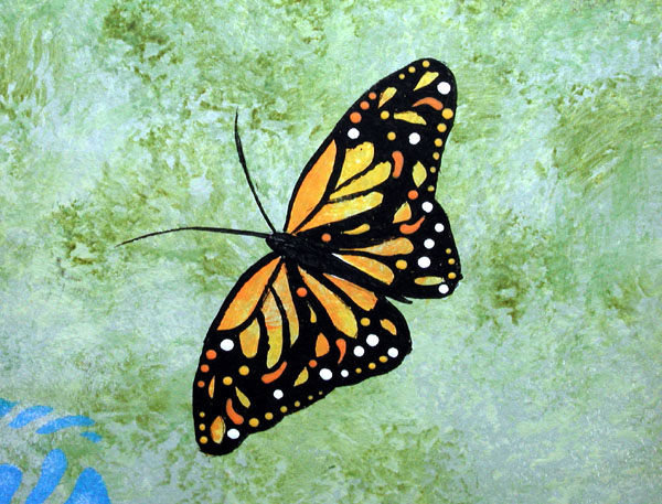 I 39 ve always like paintingbutterflies so i put this for Butterfly garden mural